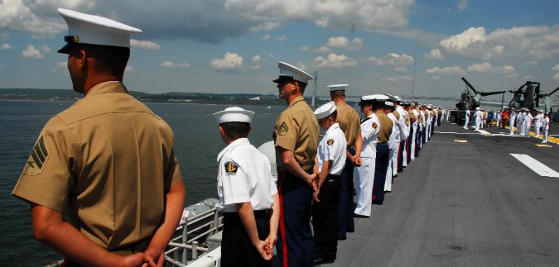 USMC on ship